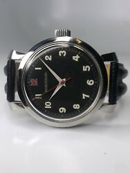 Jaeger Lecoultre Vintage Military Wwii Era 39mm Wrist Watch Good Working Order