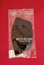 Square Enix Members Exclusive Cosmetic Black Cloth Face Mask Final Fantasy 7 VII $14.99