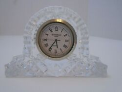 Waterford Crystal Cottage Mantle Clock Marked Ireland Engraved Bottom