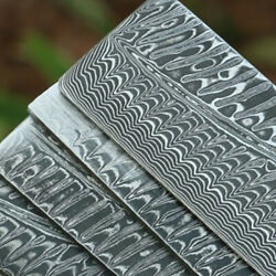 Damascus Steel Blank Bar Exquisite Knife Making Stainless Billet Keel And Wave Bar