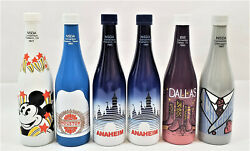 Ibie Interbev Nsda Convention Commemorative Painted Soda Bottles Lot Of 6