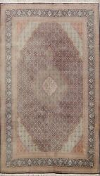 Semi-antique Traditional Geometric Area Rug Hand-knotted Oriental Carpet 7x10