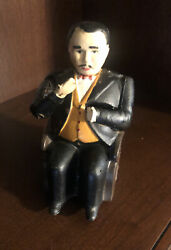 Antique Cast Iron 1873 Patent Tammany Mechanical Man In Chair Bank