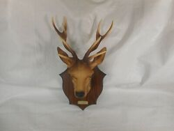 Vintage Hard Plastic Buck Stag Deer With Antler Mount Home Wall Décor