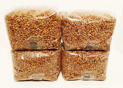 4 x 3 lb. Sterilized Rye Mushroom Substrate Unicorn Bags with Injection Ports $77.99