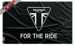 Triumph Banner Flag 3x5 ft Banner Harley Motorcycle For the Ride $14.99