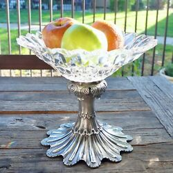 American George Sharp Bailey Co Sterling Glass Fruit Bowl Sterling Philadelphia