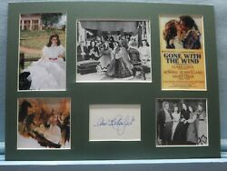 Clark Gable And Vivien Leigh In Gone With The Wind And Ann Rutherford Autograph