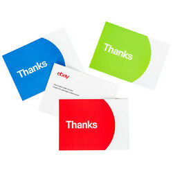 Thank You Cards – Red Blue and Green
