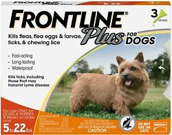FRONTLINE Plus for Small Dogs 5 22 lbs. Orange Box 3 Month Supply EPA Approved