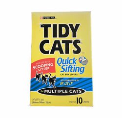Purina Tidy Cats Quick Sifting Cat Box Litter Liners 1 Box of 10 Liners New