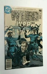 Weird War Tales 83 Color Cover Printing Error Variant Vf One Of A Kind Horror