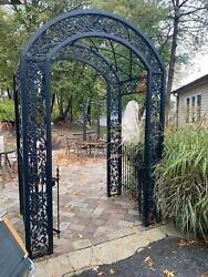Beautiful Hand Made Cast And Tubular Steel Entry Trellis - Bet56