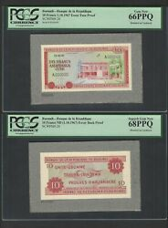 Burundi Face And Back 10 Francs 01-10-1967 P20 Essay Proof Uncirculated
