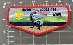 Miami Lodge 495 Order Of The Arrow Oa Flap Patch Bsa Boy Scouts Ohio Oh Www