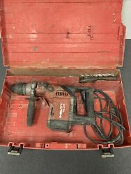 Hilti Rotary Hammer Drill Sds Max W/ Case And Drill Bits Model Number Te 55
