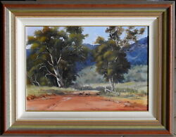 Gloria Ransom Original Oil Painting The Stragglers Roaming Sheep Capertee Valley