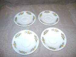 Aynsley Cottage Garden 5.5 Saucer Set Of 4 Fine English China Replacement
