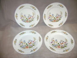 Aynsley Cottage Garden 6.25 Bread And Butter Dessert Set Of 4 Fine English China