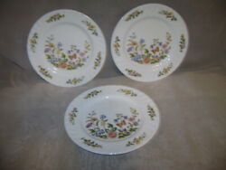 Aynsley Cottage Garden 6.25 Bread And Butter Dessert Set Of 3 Fine English China