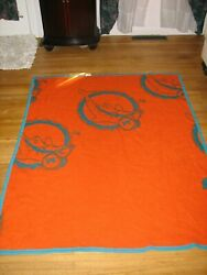 Miami Dolphins Blanket,vintage,rare 4 Ft By 5ft With Snaps