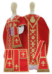 Red St. Philip Neri Chasuble With Stole Vestment Casulla Roja F782c25