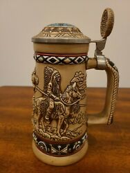 Avon Indians Of The American Frontier Beer Stein Collectibles 1988 Vintage183149