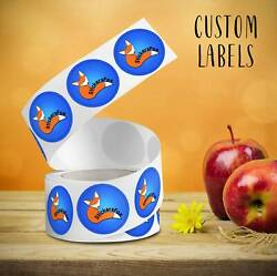Custom Roll Circle / Rectangle / Oval Labels. Your Design Is Printed On Stickers