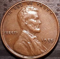 1955 P Lincoln Wheat Double Die Cent Penny Coin  5
