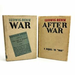 War And After War By Ludwig Renn 1st / 1st 1929-31