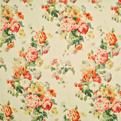 Clarence House Constance Hand Block Print Multipurpose Fabric Multi Ivory Bty