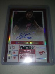 2017 Contenders Draft Picks Sterling Brown Playoff Ticket Auto Autograph D 2/15