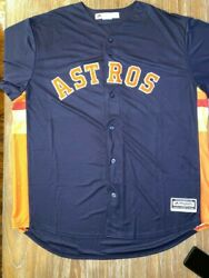 Jose Altuve Houston Astros Majestic Big And Tall Cool Base Jersey Navy Size 2xt