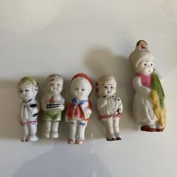 vintage bisque frozen penny dolls lot