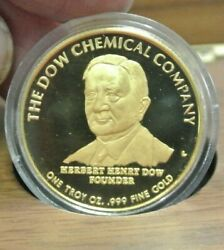 Dow Chemcali One Ounce.999 Fine Gold Medal Proof In Original Box
