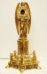 Large Brass Angel Reliquary For Your Relic 18 1/2 Ht. 58 - Church Saint