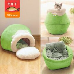 Pet Cat House Cave Nest Sleeping Bed Cushion Bag Winter Warm Soft Foldable New