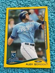 Alex Gordon Royals Yellow Border 2014 Topps #97