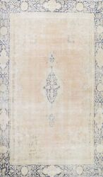 Muted Semi Antique Traditional Evenly Low Pile Area Rug Handmade Distressed 8x12