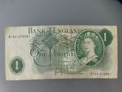 Bank Of England Uk One Pound 1960-1977 Banknote Note