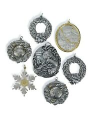 Set Of 7 Buccellati Silver And Gilt Silver Christmas Ornaments