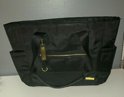 SKIP HOP Messenger Diaper Bag Black With Changing Pad New with Defects $24.99
