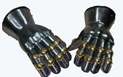 X-mas Gift Medieval Functional Metal Gloves Hourglass Gauntlets 16g Large Larp