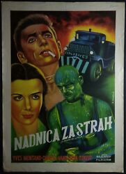 Wages Of Fear Montand Clouzot 1953 Unique Mega Rare Exyu Movie Poster