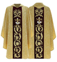 Gold/red Gothic Chasuble With Stole Vestment Or Casulla Dorada/roja 787agc26