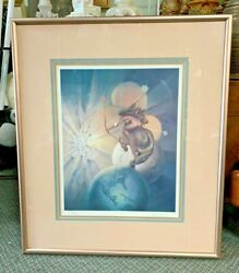 1970s Mid-century Lithograph By John Pitre Focus On Light