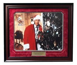 Chevy Chase Signed Christmas Vacation 16x20 Photo Framed Bas Coa Autograph Tree