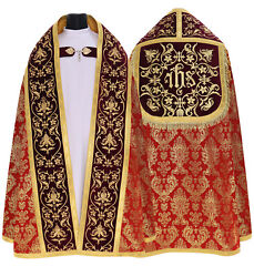 Red Roman Cope With Stole Vestment Capa Pluvial Roja Piviale Rosso Kt674ac51h23