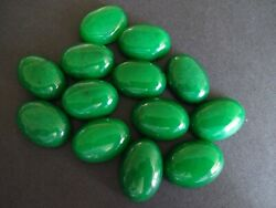 Natural Green Jade Oval Loose 3x5mm-13x18mm Gemstone Cabochon For Jewelry Making