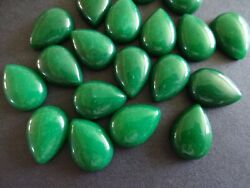 Natural Pear Green Jade Loose 3x5mm-13x18mm Gemstone Cabochon For Jewelry Making